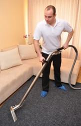 Steam carpet cleaning in London