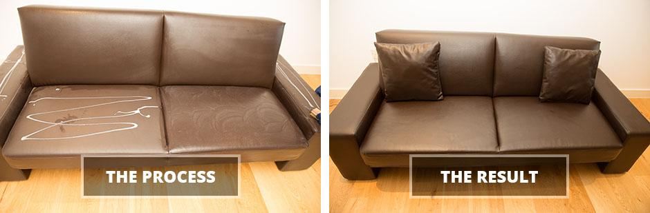 Leather sofa cleaning service in London